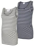 MAMALICIOUS, Dames Top, navy / wit
