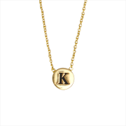 Alltheluckintheworld Collier CHARACTER NECKLACE LETTER GOLD en or