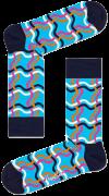 Happy Socks Chaussettes SQUIGGLY SOCK en noir