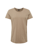 JACK & JONES, Heren Shirt 'JORBAS TEE SS U-NECK NOOS', ecru
