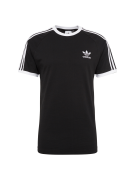 ADIDAS ORIGINALS, Heren Shirt '3-Stripes', zwart / wit