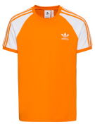 ADIDAS ORIGINALS, Heren Shirt '3-Stripes', sinaasappel / wit