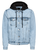 NEW LOOK, Heren Tussenjas 'RP TRANS 02.02.2018 DENIM JACKET WITH HOOD ...
